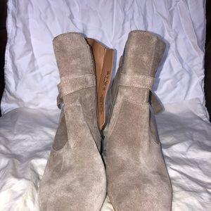"Franco Sarto Suede Leather boot gray - ""Pamela"""